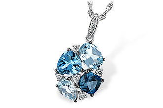A243-64645: NECK 2.60 BLUE TOPAZ 2.70 TGW