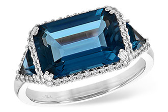 E244-56499: LDS RG 4.60 TW LONDON BLUE TOPAZ 4.82 TGW