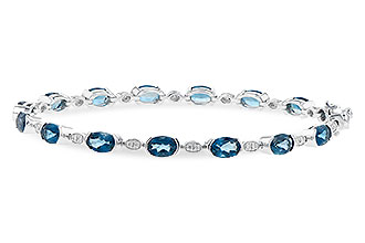 H244-60181: BRACELET 7.20 LONDON BLUE TOPAZ 7.36 TGW