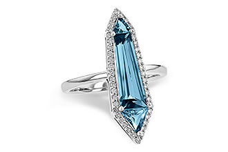 K244-55590: LDS RG 2.20 LONDON BLUE TOPAZ 2.41 TGW